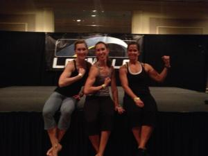 Fierce Les Mills instructors: Kristine, Kelly and Jean